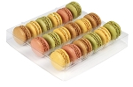 Tray, Macaron, Square, Clear, 18 Cavity, QTY/CASE-100