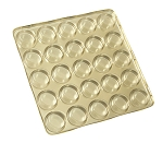 Tray, Artisan Series Gold with Clear Lid, 25 Cavity, 7-1/2 x 7-1/2 x 1