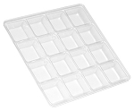 Tray Guard, Square, Clear, 8 oz., 16 Cavity, 5-1/2 x 5-1/2