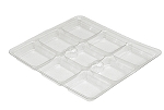 Tray Guard, Square, Clear, 8 oz., 9 Cavity, 5-1/2 x 5-1/2