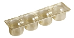 Tray, CLOSEOUT, Truffle, Gold, 4 Cavity, QTY/CASE-50