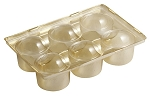 Tray, Truffle, Gold, 6 Cavity, 5-1/2 x 3-1/2 x 2