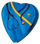 Heart Box, Special Edition Medical, Blue, 8 oz., QTY/CASE-24