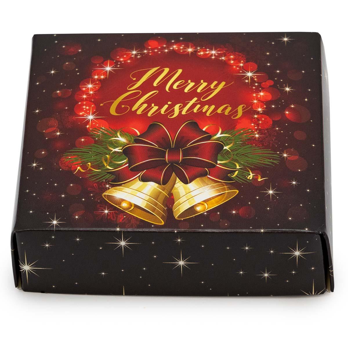 "Christmas Bells Decorative Gift Box 3 1 2 x 3 1 2 x 1"""