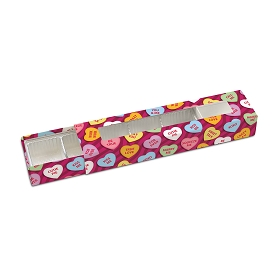 Candy Hearts, Decorative Slider Box, 5-Piece, Standard, 8-1/4 x 2 x 1-1/4