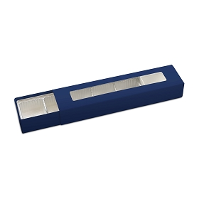 Slider Box, 5-Piece, Standard, Navy, 8-1/4 x 2 x 1-1/4