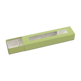 Slider Box, 5-Piece, Standard, Sage Green, 8-1/4 x 2 x 1-1/4