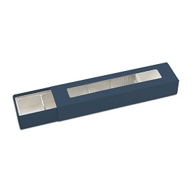 Slider Box, 5-Piece, Standard, Slate Blue, 8-1/4 x 2 x 1-1/4