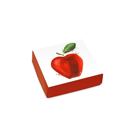 Apple-A-Day, Decorative Gift Box, 3-1/2 x 3-1/2 x 1