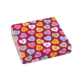 Candy Hearts, Decorative Gift Box, 5-1/2 x 5-1/2 x 1