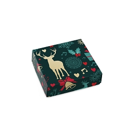 Christmas Spirit, Decorative Gift Box, 3-1/2 x 3-1/2 x 1