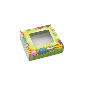 Easter Meadow, Decorative Gift Box with Window, 3-1/2 x 3-1/2 x 1