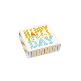 Happy Birthday, Decorative Gift Box, 3-1/2 x 3-1/2 x 1