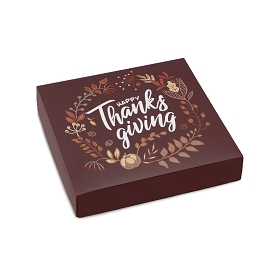 Happy Thanksgiving, Decorative Gift Box, 5-1/2 x 5-1/2 x 1