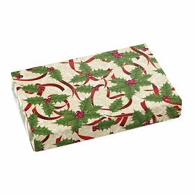 Holly and Ribbon, Decorative Gift Box, 7 x 4-1/2 x 1