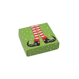 Holly Jolly, Decorative Gift Box, 3-1/2 x 3-1/2 x 1