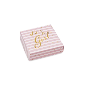 IT'S A GIRL, Decorative Gift Box, 3-1/2 x 3-1/2 x 1