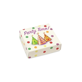Party Time, Decorative Gift Box, 3-1/2 x 3-1/2 x 1