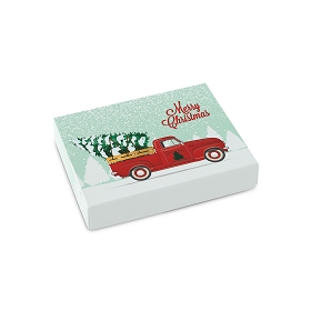 Red Truck, Decorative Gift Box, Petite Rectangle, 4-1/2 x 3-3/4 x 1