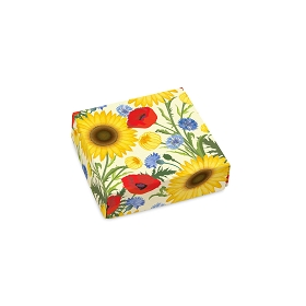 Summer Bouquet, Decorative Gift Box, 3-1/2 x 3-1/2 x 1