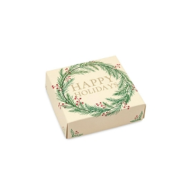 Winter Wreath, Decorative Gift Box, 3-1/2 x 3-1/2 x 1