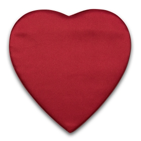 Heart Shaped Candy Box, Satin Heartbeat, Red,  1 lb., QTY/CASE-12