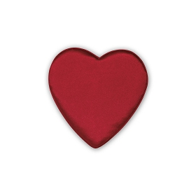 Heart Shaped Candy Box, Satin Heartbeat, Red, 2 oz., QTY/CASE-48