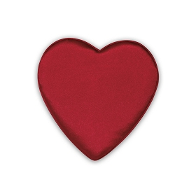 Heart Shaped Candy Box, Satin Heartbeat, Red,  4 oz., QTY/CASE-24