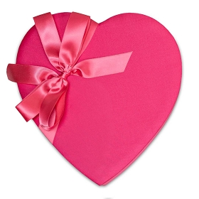 Heart Shaped Candy Box, With Care, Bow, 1 lb., QTY/CASE-6