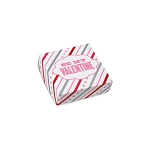 Folding Carton, Lid, 3 oz., Petite, Square, Be My Valentine box, QTY/CASE-50