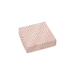 Folding Carton, Lid, 3 oz., Petite, Square, Rose Gold Pattern, QTY/CASE-50