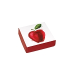 Folding Carton, Lid, 3 oz., Petite, Square, Apple-A-Day, QTY/CASE-50