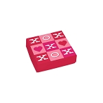 Folding Carton, Lid, 3 oz., Petite, Square, Tic-Tac XO box, QTY/CASE-50