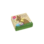 Folding Carton, Lid, 3 oz., Petite, Square, Miss Bunnykins, QTY/CASE-50