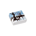 Folding Carton, Lid, 3 oz., Petite, Square, Winter Wonderland Box, QTY/CASE-50