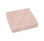 Folding Carton, Lid, 8 oz., Square, Rose Gold Pattern, QTY/CASE-50
