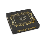 Folding Carton, Lid, 8 oz., Square, Gratitude, QTY/CASE-50