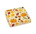 Folding Carton, Lid, 8 oz., Square, Hello Autumn, QTY/CASE-50