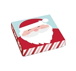 Folding Carton, Lid, 8 oz., Square, Retro Santa, QTY/CASE-50
