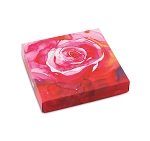 Folding Carton, Lid, 8 oz., Square, Watercolor Rose, QTY/CASE-50