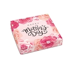 Folding Carton, Lid, 8 oz., Square, Happy Mother's Day, QTY/CASE-50