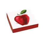 Folding Carton, Lid, 8 oz., Square, Apple-A-Day, QTY/CASE-50