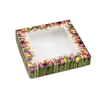 Country Tulips, Decorative Gift Box with Window, 5-1/2 x 5-1/2 x 1-1/8
