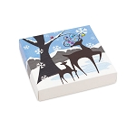 Folding Carton, Lid, 8 oz., Square, Winter Wonderland Box, QTY/CASE-50