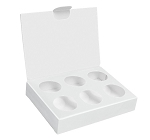 Artisan Series Box with Flip Lid, 6-Piece, White, 4-1/2 x 3-1/4 x 7/8