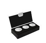 Artisan Series Box with Flip Lid, 3-Piece, Black, 4-1/2 x 2 x 1