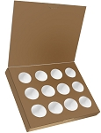Folding Carton, Artisan Series Birnn Box with Flip Lid, 12-Piece, Copper, QTY/CASE-50