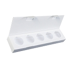 Artisan Series Box with Flip Lid, 5-Piece, White, 8-1/2 x 2 x 1