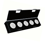 Artisan Series Box with Flip Lid, 5-Piece, Black, 8-1/2 x 2 x 1