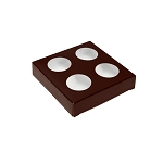 Artisan Series Box, 4-Piece, Brown, 3-1/2 x 3-1/2 x 1